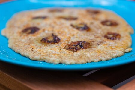 Delicious homemade pancakes on a bright plate