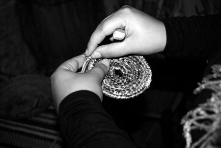 tethys: hand of girl Stock Photo