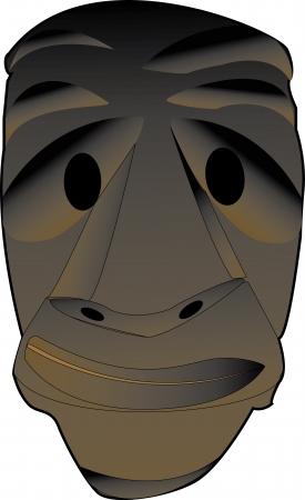 carnevale: illustrazione di una maschera da mammuthones del carnevale sardo  Illustration