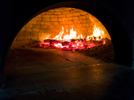 wood oven for Italian pizza