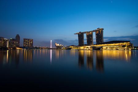 lighthing: singapore marina bay Editorial
