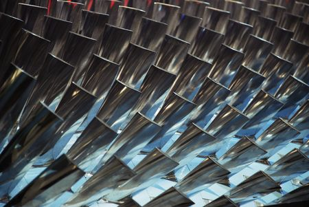 Turbine Blades Stock Photo