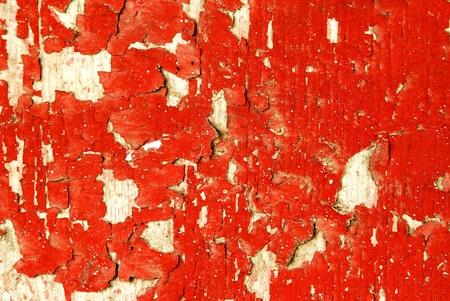 Peeling Red Paint
