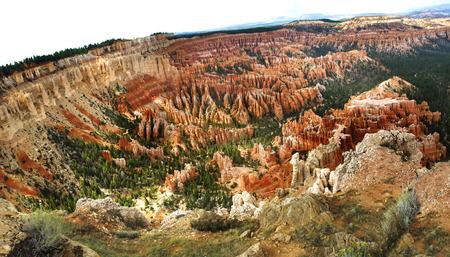 hoodoos: View of Bryce Canyon, Utah, United States showing the hoodoos