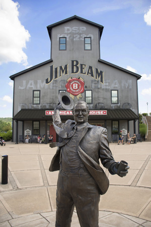 CLERMONT, Kentucky, USA - June 18, 2016: Tourists visit the Jim Beam Stillhouse on June 18, one of the stops on the Kentucky bourbon trail.