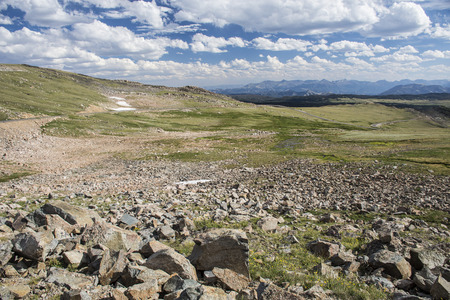 View from Beartooth Highway, Wyoming, United States Stock Photo