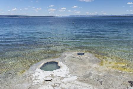 lakeshore: Lakeshore Geyser, West Thumb Geyser Basin, Yellowstone National Park, United States