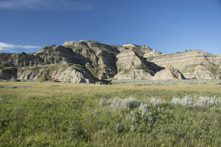 Landscape of Theodore Roosevelt National Park.
