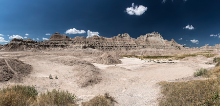 Panoramic view in Badlands National Park, South Dakota, United States.