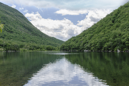 Profile Lake in Franconia Notch State Park, New Hampshire, United States