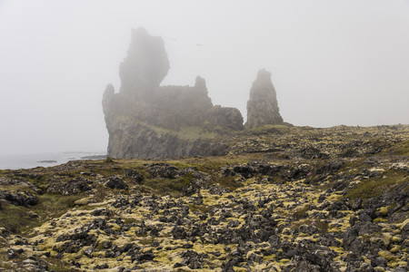 Londrangar, Iceland on a Foggy day
