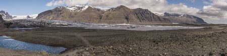 Panoramic view of Skaftafellsjökull Glacier in Iceland. Фото со стока