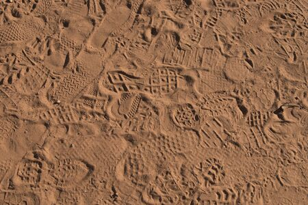 Footprints in Orange Sand - Taken at Colorado National Monument, USA