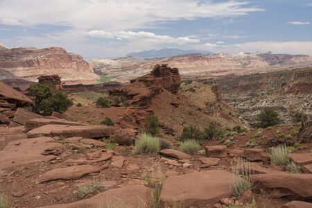 Sunset Point in Capitol Reef National Park, Utah, USA.