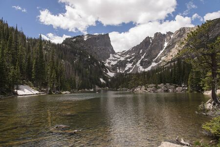 View of Dream Lake, Colorado in Rocky Mountain National Park.
