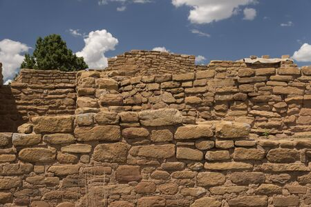 Detail of the Far View House in Mesa Verde National Park, Colorado, USA