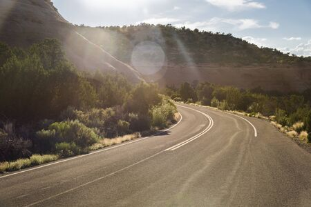 Road (Rimrock Drive) through Colorado National Monument, USA