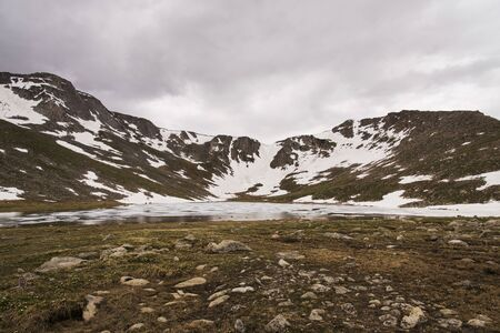 Summit Lake, Colorado on an overcast day. Banco de Imagens