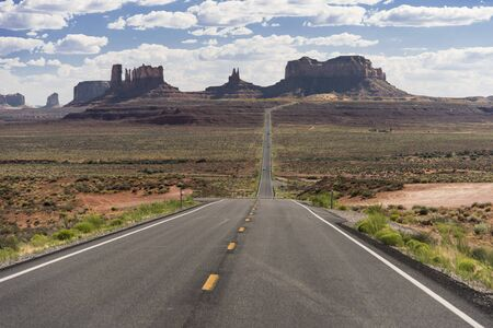 A scenic overlook of Monument Valley on US route 163 in Utah, also known as