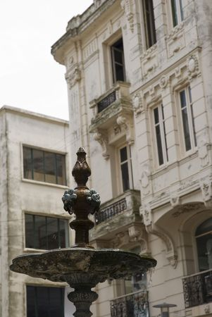 Detail shot of an old fountain in Montevideo, Uruguay, 2008 Stock Photo