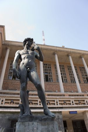 One f the three Michelangelos David replicas is in  Montevideo, Capital of Uruguay, in front of the Palacio Municipal. photo
