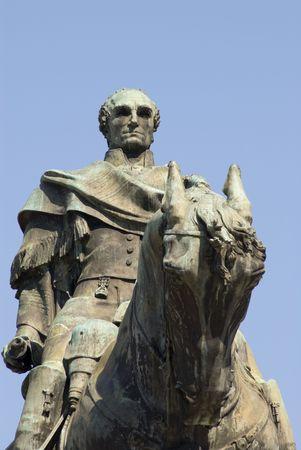 artigas: Cropper shot of a statue of Gen. Artigas, Montevideo, Uruguay, 2008