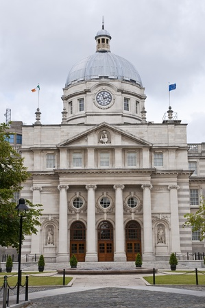 Government buildings in Dublin, Ireland. Stock Photo