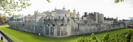 LONDON, UK - APRIL 30: Panoramic shot of the Tower of London. April 30, 2012 in London. The fortress dates back from the 1070s. Stock Photo - 13460524