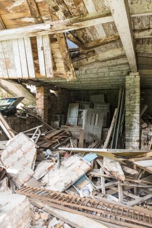 derelict: Inside shot of derelict building