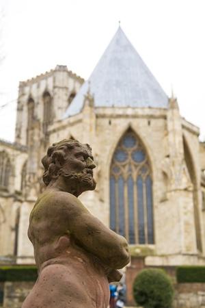 treasurer: YORK, UK - MARCH 30: Statue at the Treasurer