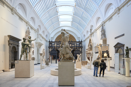 LONDON, UK - DECEMBER 20: Victoria and Albert museum