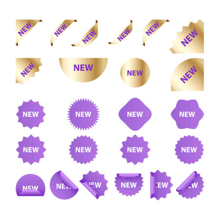 Set of stickers. New Label collection. Discount banners labels and icons.