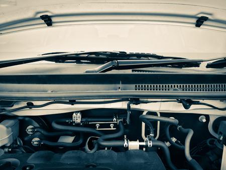engine room: car engine room