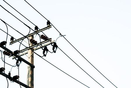 isolator insulator: White isolate electric post