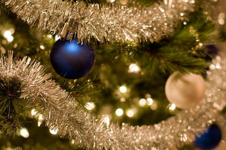 silvery: part of Christmas tree