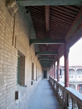 Corridor of an old Chinese building