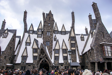 Tavern in Hogsmeade in The Wizarding World of Harry Potter Zone at Universal Studios Japan. Editorial