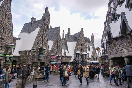 broomsticks: Tavern in Hogsmeade in The Wizarding World of Harry Potter Zone at Universal Studios Japan. Editorial