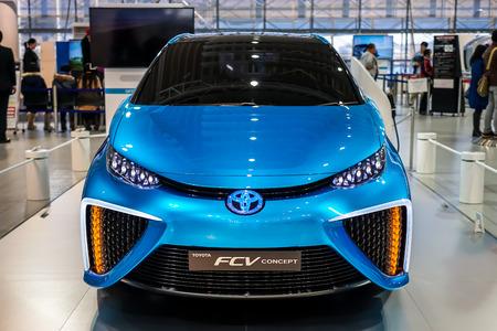 Toyota Mirai fuelcell car at Megaweb Tokyo Japan