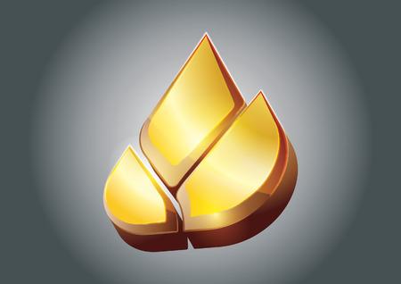 3 dimensional: Golden Lotus vector in 3 Dimensional