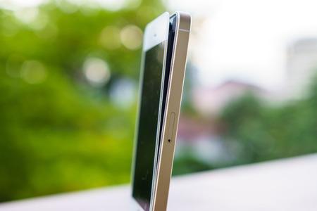 swollen: Swollen defective battery of a smartphone