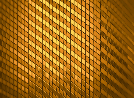 3d rendering abstract luxury shine golden mosaic background. 3d golden tile.