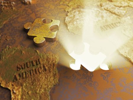 Gold beneath the crust  made in 3D photo