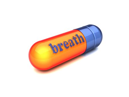 breath: blue capsule breath made by 3D graphics