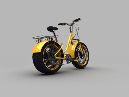 velo: yellow velo-moto concept  made by 3d back