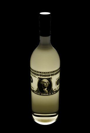 elixir: botella de elixir de d�lares realizados en 3D