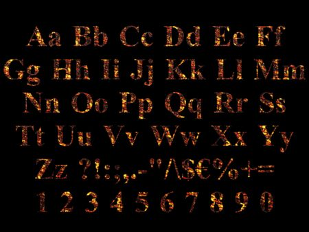 Alphabet stylized to charred embers Stock Photo - 5850857