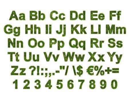 Arial Black Alphabet stylized to grass Stock Photo - 5850862