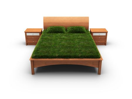 bed designed as an herbal  photo