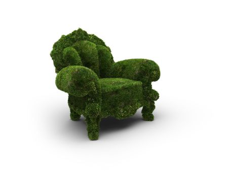 chair designed as an herbal  photo